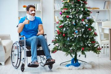 Man Recovering At Home Stock Images
