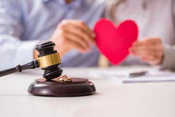 Judge Gavel Deciding On Marriage Divorce Shoot