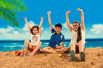 Kids Playing At Beach Shoot