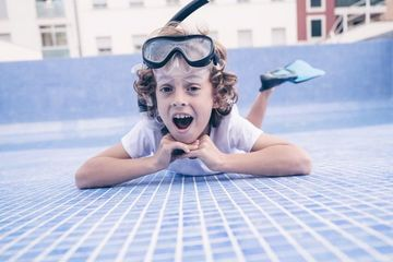 Boy With Diving Equipment Shoot