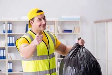 Cleaning Man Stock Images