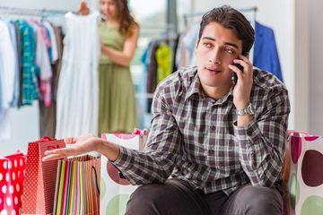 Frustrated Man At Shopping Shoot
