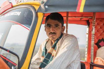 Man With Auto Rickshaw Shoot
