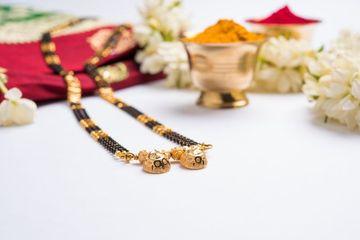 Mangalsutra Or Golden Necklace Shoot