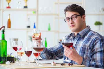 Professional Sommelier Stock Images