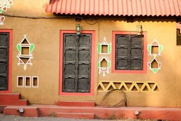 Rajasthani Style Decorative Door, Windows And Wall Graphics Shoot