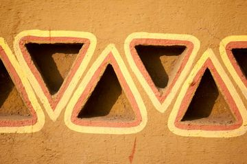 Rajasthani Style Wall Graphics In Rajasthan Rural India Southeast Asia. Shoot