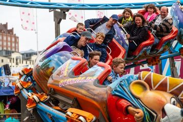 People On A Roller Coaster Shoot