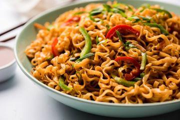 Schezwan Veg Noodles Shoot
