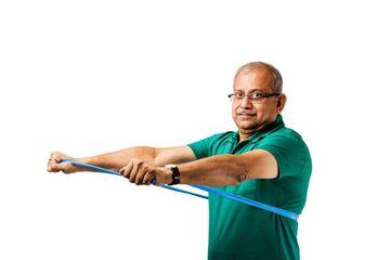 Senior Indian Man At Gym Shoot