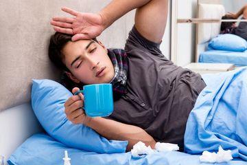 Sick Man Situation Stock Images