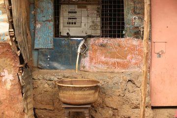Slum Area Nairobi Kenya Shoot