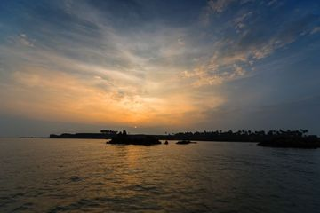Sunset With Beautiful Sky At  Sindhudurg Fort, Queens Beach, Malvan, Konkan, Maharashtra, India, Southeast Asia. Shoot