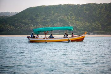 Traditional Wooden Tourist Boat At Nivti Beach Shoot