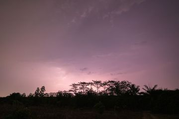 View Of Lightning In The Sky At Night Shoot