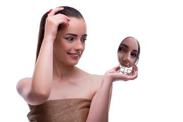 Makeup Addicted Girl Stock Images