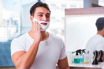 Shaving Cream Promotion Stock Images