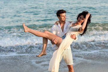 Couple At Beach Shoot