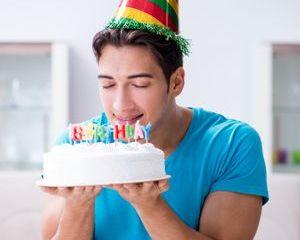 Man Celebrating Birthday Shoot