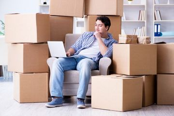 House Shifting Stock Images