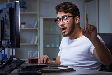Man Playing Games In Office Shoot