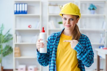 Woman In Workshop Stock Images