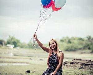 Girl Holding Balloons Shoot